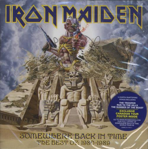 Iron Maiden Somewhere Back In Time - Sealed With Poster + iPod Skin CD album (CDLP) Canadian IROCDSO447141