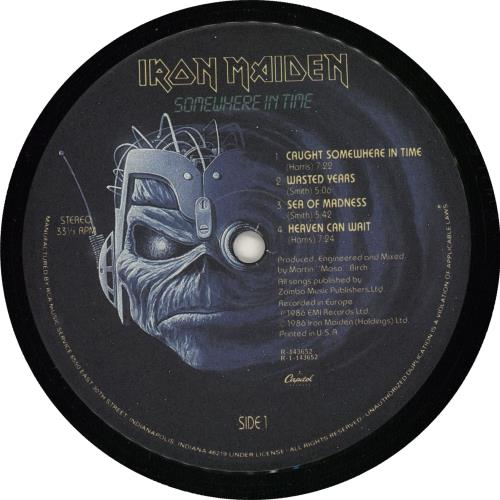 Iron Maiden Somewhere In Time - Record Club vinyl LP album (LP record) US IROLPSO724496