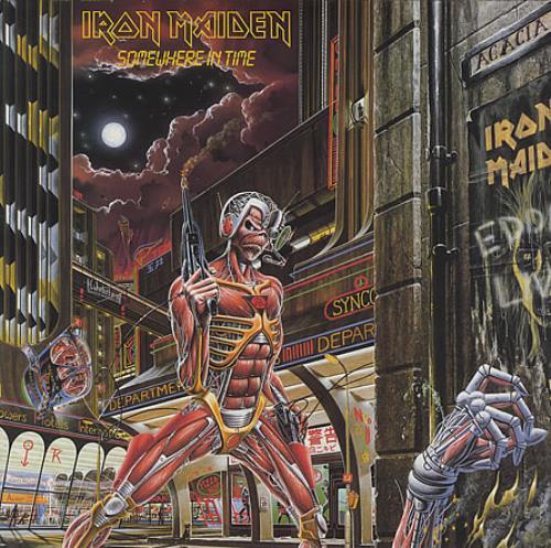 Iron Maiden Somewhere In Time vinyl LP album (LP record) Dutch IROLPSO399811