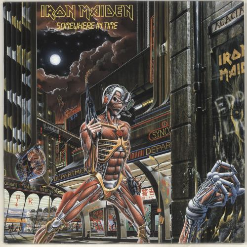 Iron Maiden Somewhere In Time vinyl LP album (LP record) Australian IROLPSO713652