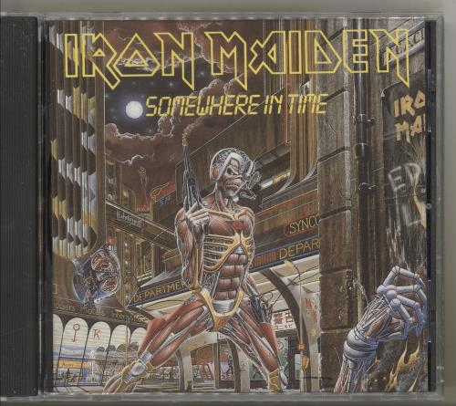 Iron Maiden Somewhere In Time CD album (CDLP) US IROCDSO713694