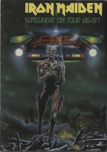 Iron Maiden Somewhere On Tour 86/87 + Merch insert tour programme UK IROTRSO47604