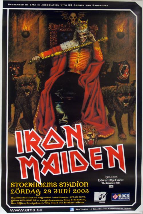 Iron Maiden Stockholm Stadion poster Swedish IROPOST618087