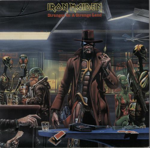 "Iron Maiden Stranger In A Strange Land - EX 12"" vinyl single (12 inch record / Maxi-single) UK IRO12ST650115"
