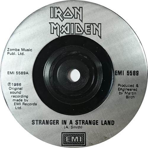 "Iron Maiden Stranger In A Strange Land - Poster - Inj 7"" vinyl single (7 inch record) UK IRO07ST615616"