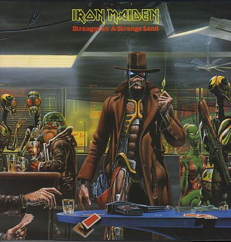 "Iron Maiden Stranger In A Strange Land 12"" vinyl single (12 inch record / Maxi-single) Dutch IRO12ST175516"