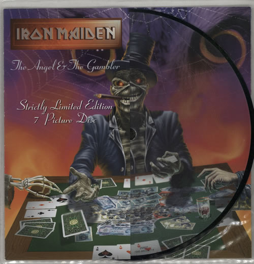 """Iron Maiden The Angel & The Gambler 7"""" vinyl picture disc 7 inch picture disc single UK IRO7PTH108001"""