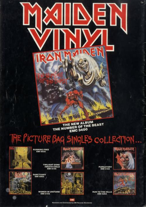Iron Maiden The Beast On The Road Ex Uk Tour Programme
