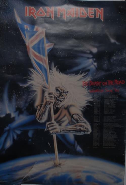 Iron Maiden The Beast On The Road - Part 1 + Ticket Stub & Poster tour programme UK IROTRTH594572