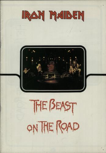 Iron Maiden The Beast On The Road - Part 1 Band Members Cover Image tour programme UK IROTRTH416577