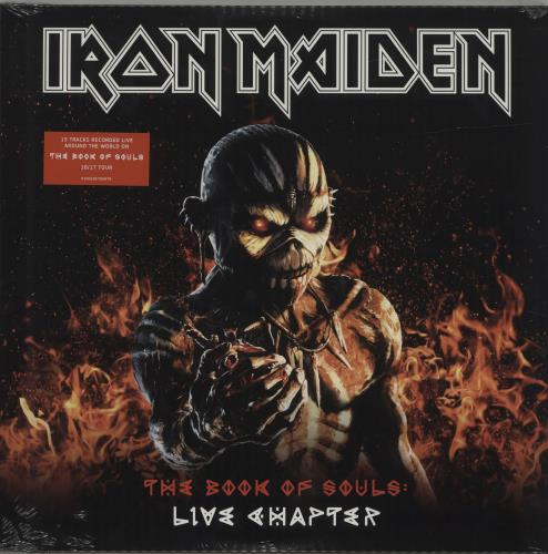 Iron Maiden The Book Of Souls: Live Chapter - Sealed 3-LP vinyl record set (Triple Album) UK IRO3LTH685248
