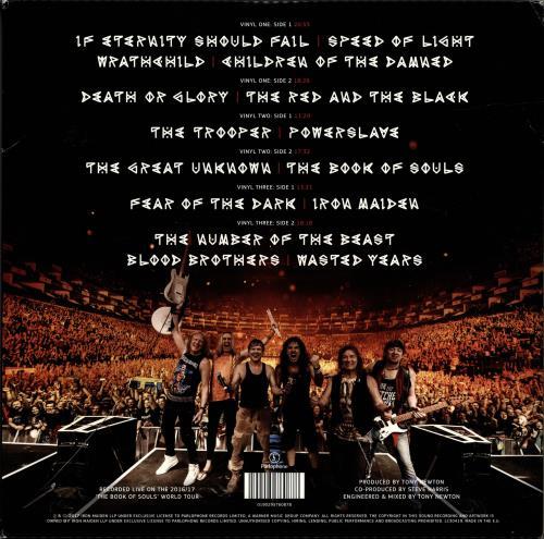 Iron Maiden The Book Of Souls: Live Chapter 3-LP vinyl record set (Triple Album) UK IRO3LTH695554