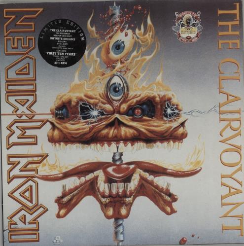 "Iron Maiden The Clairvoyant / Infinite Dreams 12"" vinyl single (12 inch record / Maxi-single) UK IRO12TH669986"