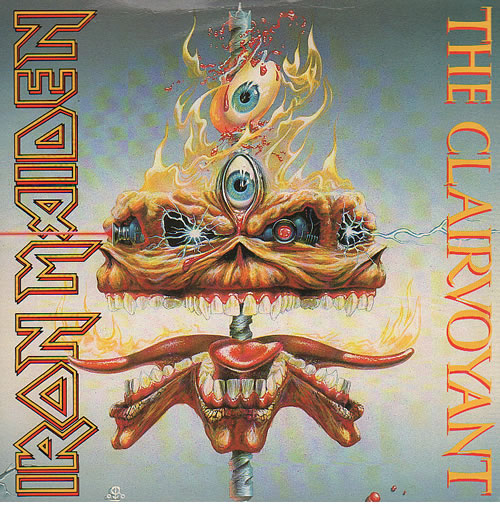 "Iron Maiden The Clairvoyant - Card p/s 7"" vinyl single (7 inch record) UK IRO07TH150585"
