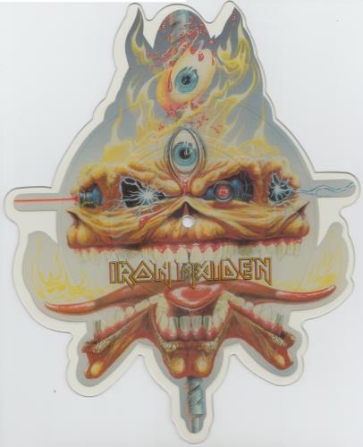Iron Maiden The Clairvoyant shaped picture disc (picture disc vinyl record) UK IROSHTH22737