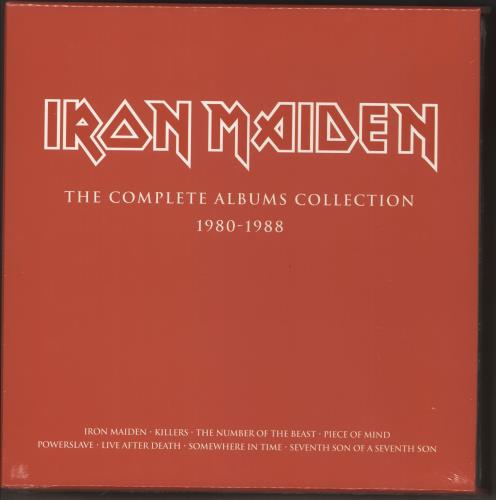 Iron Maiden The Complete Albums Collection - Complete 8 Albums sealed Vinyl Box Set UK IROVXTH724265