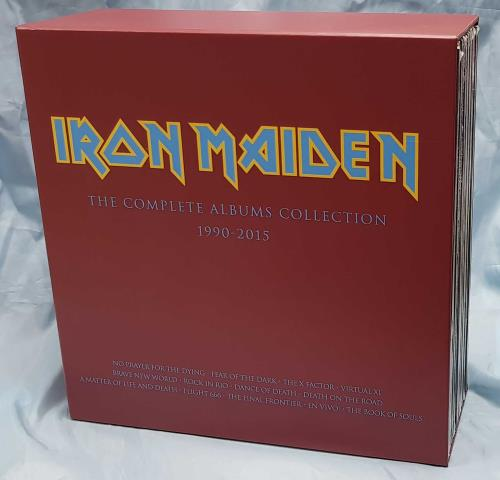Iron Maiden The Complete Albums Collection - Complete Set Vinyl Box Set UK IROVXTH695400