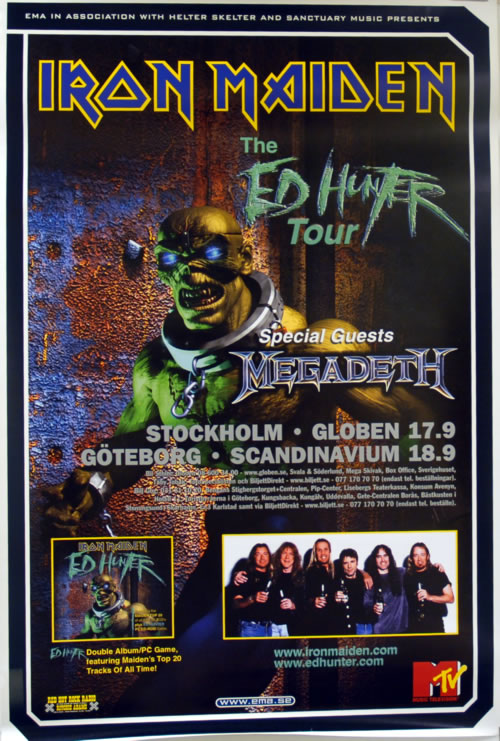 Iron Maiden The Ed Hunter Tour poster Swedish IROPOTH618086