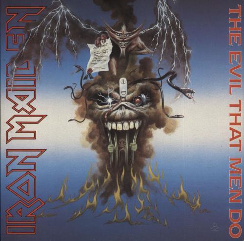 "Iron Maiden The Evil That Men Do - Solid + Sleeve 7"" vinyl single (7 inch record) UK IRO07TH673074"