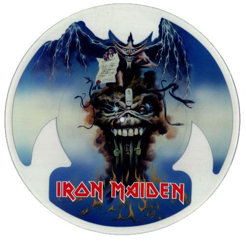 Iron Maiden The Evil That Men Do uncut picture disc (vinyl) UK IROUNTH12084