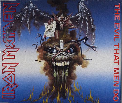 """Iron Maiden The Evil That Men Do CD single (CD5 / 5"""") UK IROC5TH37133"""
