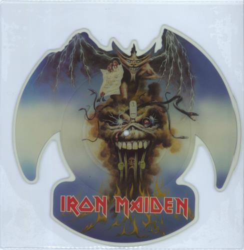 Iron Maiden The Evil That Men Do shaped picture disc (picture disc vinyl record) UK IROSHTH00702