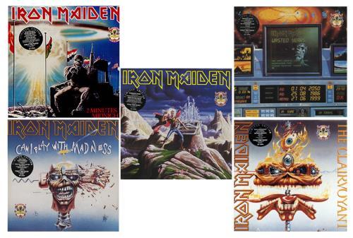 "Iron Maiden The First Ten Years 1980-1990- 10 X 12"" Double Packs 12"" vinyl single (12 inch record / Maxi-single) UK IRO12TH229053"