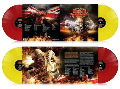 Iron Maiden The Many Faces Of Iron Maiden - Yellow & Red Vinyl 2-LP vinyl record set (Double Album) UK IRO2LTH754012