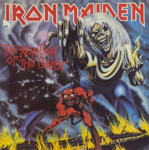 Iron Maiden The Number Of The Beast - 1st - EX vinyl LP album (LP record) UK IROLPTH667121