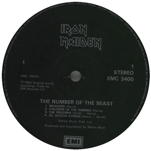 Iron Maiden The Number Of The Beast - Black & Silver Label vinyl LP album (LP record) UK IROLPTH576868