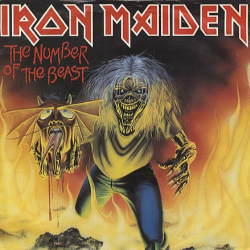 "Iron Maiden The Number Of The Beast - Red Vinyl + P/S - EX 7"" vinyl single (7 inch record) UK IRO07TH337385"