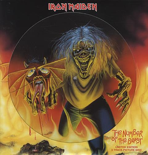 """Iron Maiden The Number Of The Beast 12"""" vinyl picture disc 12inch picture disc record UK IRO2PTH311907"""