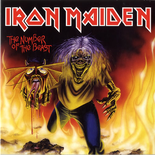 """Iron Maiden The Number Of The Beast 7"""" vinyl single (7 inch record) UK IRO07TH614096"""