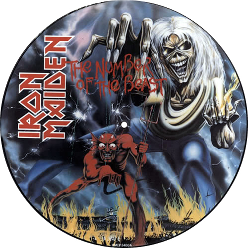 Iron Maiden The Number Of The Beast picture disc LP (vinyl picture disc album) UK IROPDTH00692