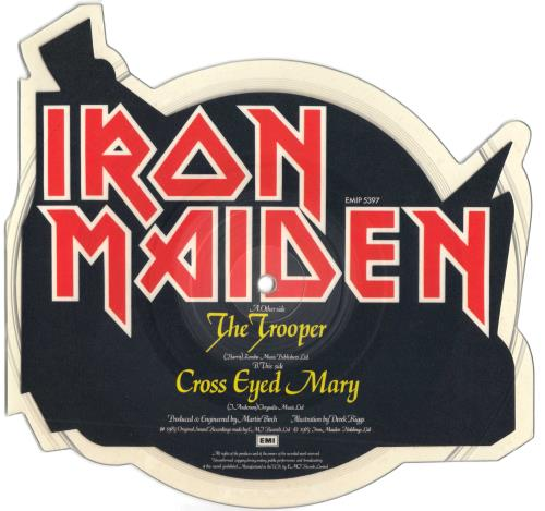 Iron Maiden The Trooper - No V Cut shaped picture disc (picture disc vinyl record) UK IROSHTH00697