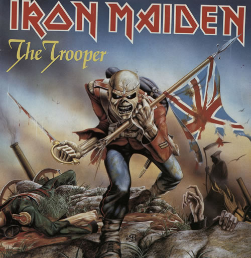 "Iron Maiden The Trooper - Paper Picture Sleeve 7"" vinyl single (7 inch record) UK IRO07TH568283"