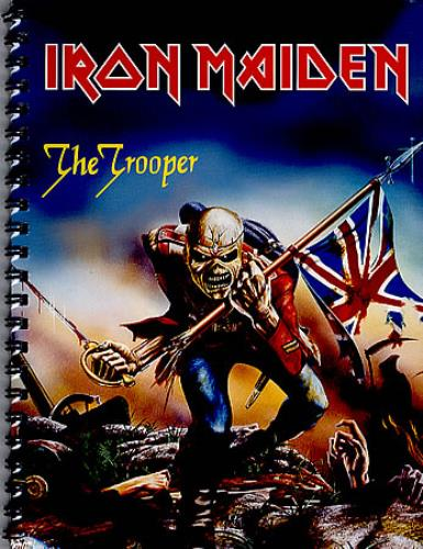Iron Maiden The Trooper A4 Note Book UK IROBKTH348431