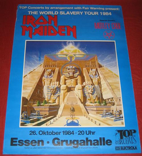 Iron Maiden The World Slavery Tour 1984 poster German IROPOTH344547