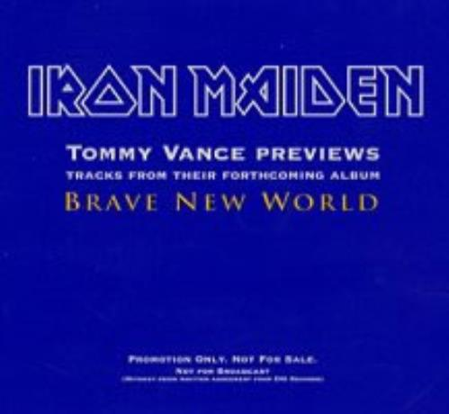 Iron Maiden Tommy Vance Previews Brave New World CD-R acetate UK IROCRTO161285