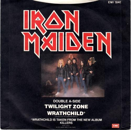 """Iron Maiden Twilight Zone - Black Vinyl + P/S 7"""" vinyl single (7 inch record) UK IRO07TW01446"""