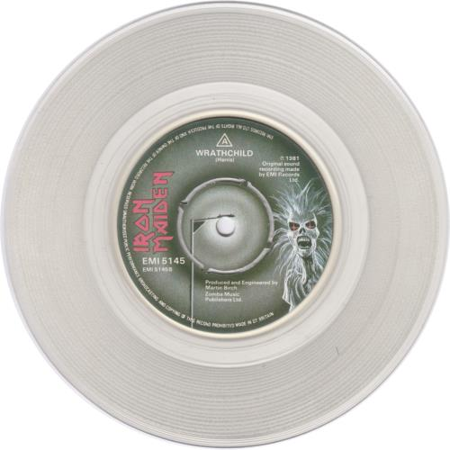 "Iron Maiden Twilight Zone - Clear Vinyl 7"" vinyl single (7 inch record) UK IRO07TW07124"