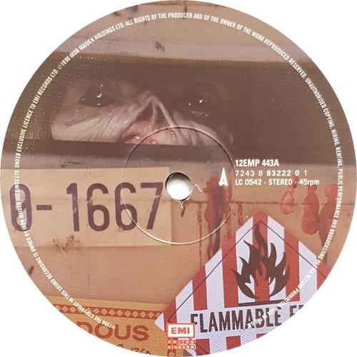 """Iron Maiden Virus - Poster Sleeve 12"""" vinyl single (12 inch record / Maxi-single) UK IRO12VI72152"""