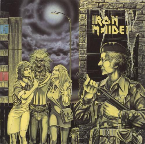 "Iron Maiden Women In Uniform - Purple Labels - EX 12"" vinyl single (12 inch record / Maxi-single) UK IRO12WO729670"