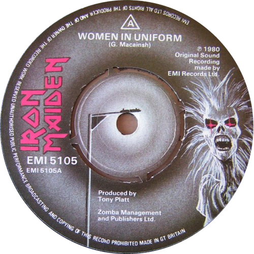 "Iron Maiden Women In Uniform 7"" vinyl single (7 inch record) UK IRO07WO01449"