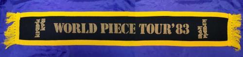 Iron Maiden World Piece Tour '83- Black & Yellow Scarf memorabilia UK IROMMWO713759