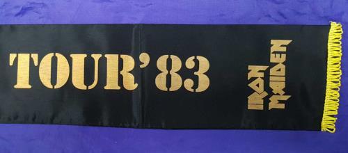 Iron Maiden World Piece Tour '83- Black Satin Scarf memorabilia UK IROMMWO713764