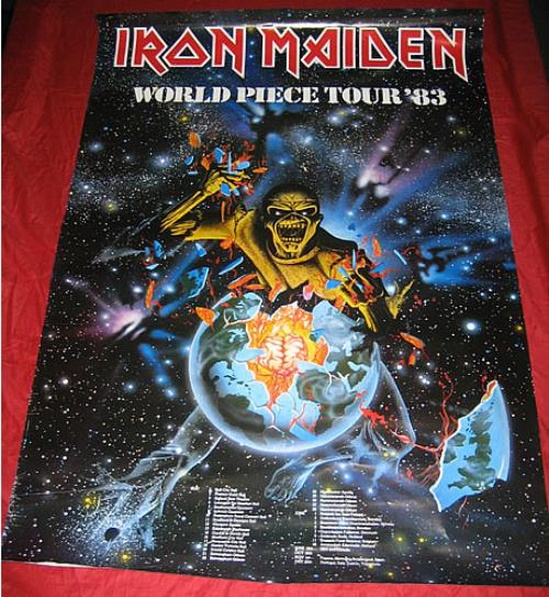 Iron Maiden World Piece Tour 83 Uk Poster 338408