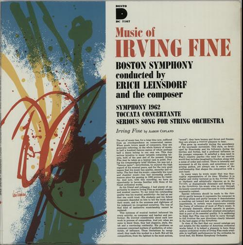 Irving Fine Music Of Irving Fine vinyl LP album (LP record) US IRVLPMU633113