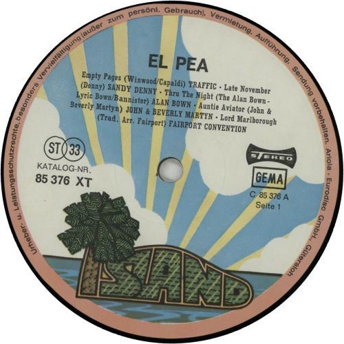 Island Records El Pea Dutch 2-LP vinyl record set (Double ...