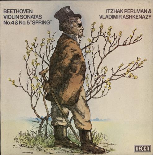 Itzhak Perlman & Vladimir Ashkenazy Beethoven - Violin Sonatas No's 4 & 5 'Spring' vinyl LP album (LP record) UK IS2LPBE768949